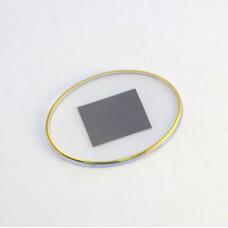 Заготовка акрилового магнита овальная с тиснением золото   85 х 63 мм