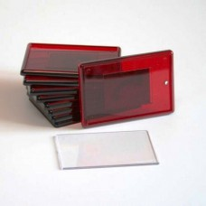 Заготовка акрилового магнита 52 х 77 мм красный цена до 100 шт.
